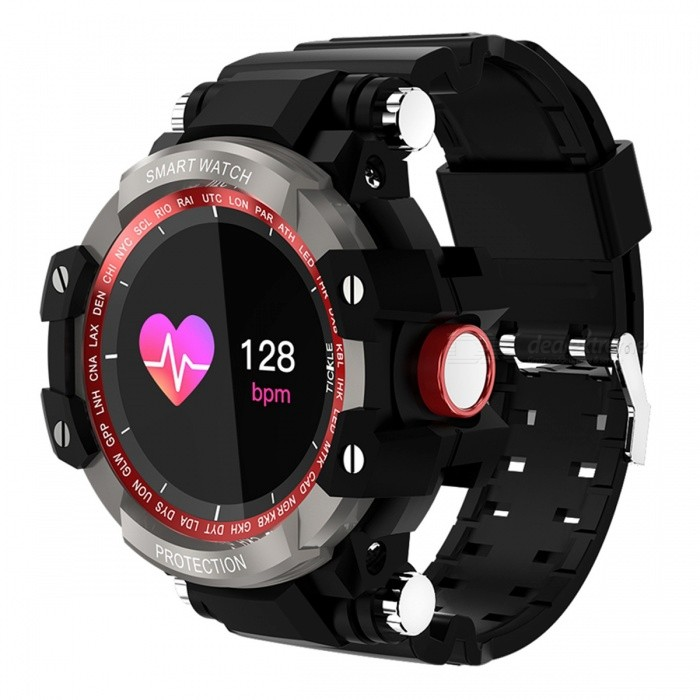 GW68 Smart Watch IP67 Waterproof 200 Days Long Standby Heart Rate Blood Pressure Monitoring - Grey + Black