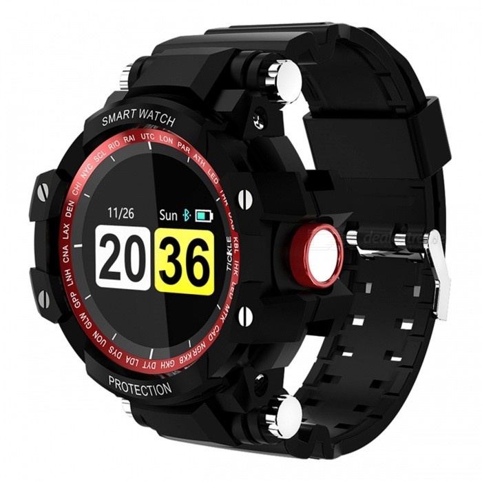 GW68 Smart Watch IP67 Waterproof 200 Days Long Standby Heart Rate Blood Pressure Monitoring - Red + Black