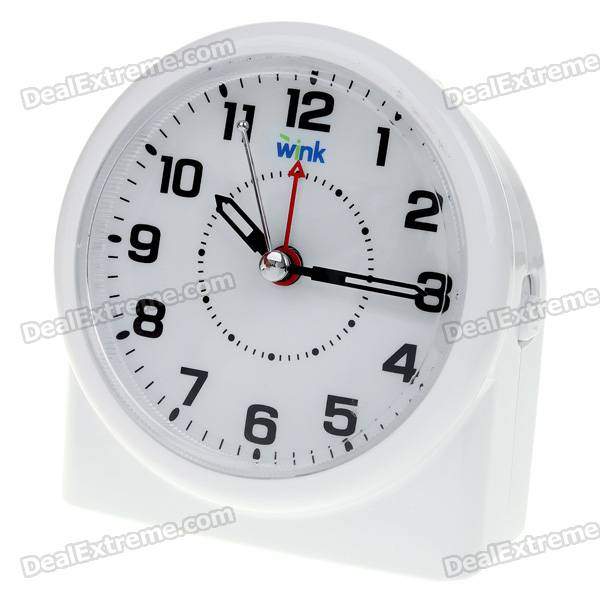 Stylish Alarm Clock with Snooze/Intelligent Light - White (3*AA)