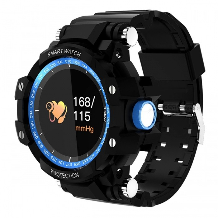 GW68 Smart Watch IP67 Waterproof 200 Days Long Standby Heart Rate Blood Pressure Monitoring - Blue + BlackSmart Watches<br>ColorBlue + blackQuantity1 DX.PCM.Model.AttributeModel.UnitMaterialABSCPU ProcessorNRF52832Screen Size0.95 DX.PCM.Model.AttributeModel.UnitScreen Resolution96*64Bluetooth VersionBluetooth V4.0Compatible OSAndroid 4.0 / IOS 8.0 or aboveLanguageSimplified Chinese, Traditional Chinese, English, Japanese, Korean, Spanish, German, Italian, French, Greek, Turkish, Russian, Dutch, PortugueseWristband Length22 DX.PCM.Model.AttributeModel.UnitWater-proofIP65Battery ModeNon-removableBattery TypeLi-polymer batteryBattery Capacity230 DX.PCM.Model.AttributeModel.UnitStandby Time200 DX.PCM.Model.AttributeModel.UnitPacking List1 x Smart Bracelet 1 x User Manual1 x USB charger<br>
