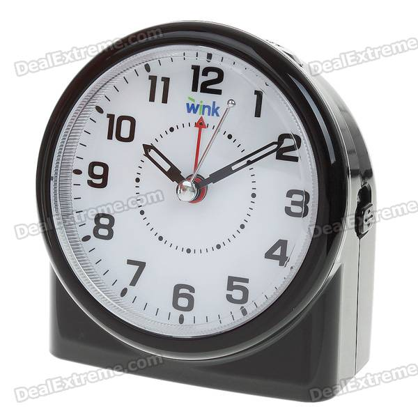 Stylish Alarm Clock with Snooze/Intelligent Light - Black (3*AA)