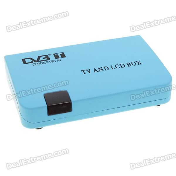 Compact Digital TV Box DVB-T Receiver with AV/VGA (PAL/NTSC) 1080p mobile dvb t2 car digital tv receiver real 2 antenna speed up to 160 180km h dvb t2 car tv tuner mpeg4 sd hd