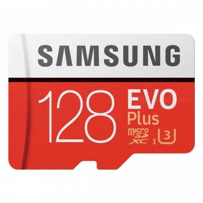 Samsung MicroSDXC EVO Plus Memory Card USH-1 U3 128GB Class10 Up to 100M/S Micro SD Memory Storage Card
