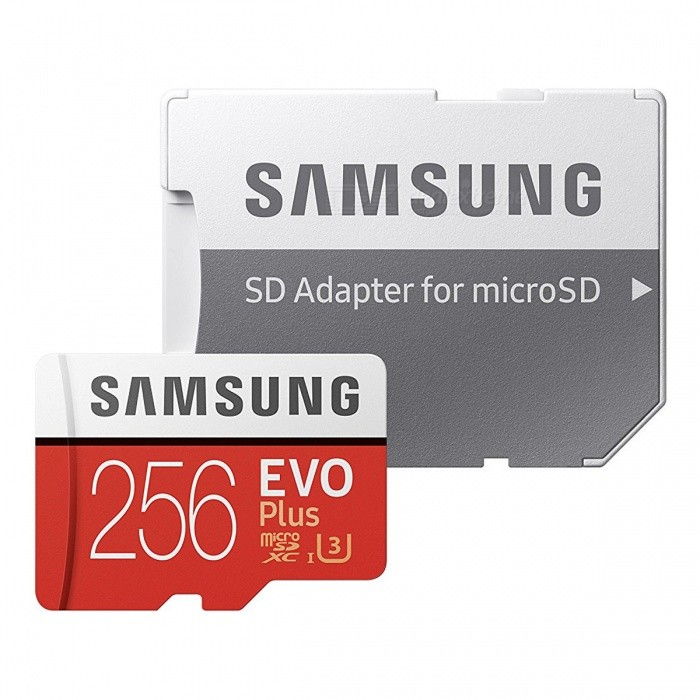 Samsung MicroSDXC EVO Plus Memory Card USH-1 U3 256GB Class10 Up to 100M/S Micro SD Memory Storage Card with Adapter