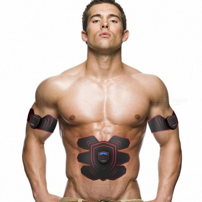 UMATE 3-Piece New Smart Fitness Abdominal Waist Body Muscle EMS Trainer Gear Massager Kit