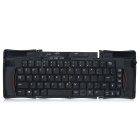 Compact Foldable 69-Key Rechargeable Bluetooth Wireless Keyboard Set - Black