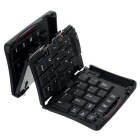 GK 308e Foldable 69-Key Rechargeable Bluetooth Wireless Keyboard Set - Black