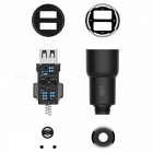 Xiaomi ROIDMI 3S Bluetooth FM Transmitter Dual USB Car Charger + Air Outlet Phone Stand Holder + Baseus Magnetic Cable Clip