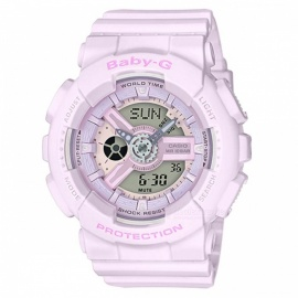 Casio BA-110-4A2 Baby-G Series Ladies Watch - Lighter Lace Pink