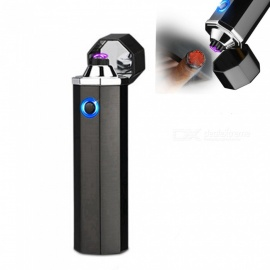 Electric Double Pulse Arc USB Rechargeable Lighter, Smokeless Windproof Cigarette Cigar Lighter