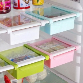 Hoomall 16.5x15cm Creative Refrigerator Storage Box, Fresh Spacer Layer Storage Rack Drawer Kitchen Tool  Blue