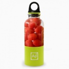 Portable USB Rechargeable Juicer Cup, 500ml Capacity BPA Free Fruit Juice Blender - Green