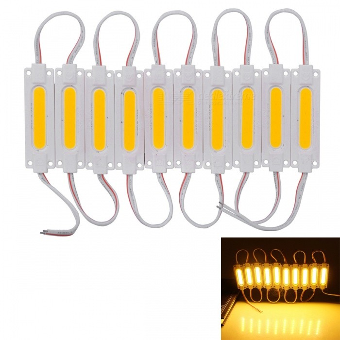 JRLED 30W Yellow Waterproof SMD COB Module Light Box Light Source (DC 12V)Other SMD Strips<br>Emitting ColorYellowModelN/AMaterialAluminum alloy + silica gelQuantity1 setPowerOthers,30WRated VoltageDC 12 VChip BrandEpistarEmitter TypeCOBTotal Emitters1Color Temperature2000KWavelengthN/ATheoretical Lumens3000 lumensActual Lumens1500 lumensPower AdapterOthers,connectionCertificationCE ROHSOther FeaturesThis product uses DC12V voltage, it can prevent rainwater and has a wide range of uses. It is a good choice for signboard, advertising light box light source, luminous character backlight, automobile trunk lamp and reversing lamp.Each piece of this product can be cut apart and used separately, low voltage DC12V.Packing List1 x 1 COB modules (20 pieces)<br>