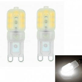 Sencart G9 3W 14x2835 SMD Cold White LED Dimmable Light with Cream ABS Cover, AC110-130V (2 PCS)