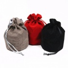 "Top quality dice jewelry packing velvet bag, 6"" x 5.5"" velvet drawstring bag pouch for gift / board game storage black"