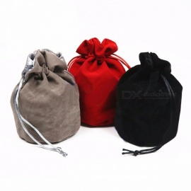 "TOP Quality Dice Jewelry Packing Velvet Bag, 6"" x 5.5"" Velvet Drawstring Bag Pouch for Gift / Board Game Storage Red"