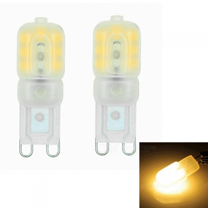 Sencart G9 3W 14x2835 SMD Warm White LED Dimmable Light with Cream ABS Cover, AC220-240V (2 PCS)G9<br>Color220V Warm WhiteModelG9MaterialABS+PCB+LEDForm  ColorWhiteQuantity1 setPower3WRated VoltageAC 220-240 VConnector TypeG9Chip BrandEpistarChip Type2835Emitter TypeOthers,2835 SMD LEDTotal Emitters14Theoretical Lumens270 lumensActual Lumens220 lumensColor Temperature3000KDimmableYesBeam Angle360 °Packing List2 x G9 LED Lights<br>