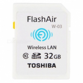 Toshiba Wi-Fi SD16GB FlashAir Wireless LAN W-03 SDHC16GB Memory Card - White (16GB / Class10)