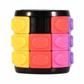 QiYi Magic Finger Cube, Cylindrical Puzzle Finger Anxiety Stress Focus Attention Fidget Toy Gift for Kids - Three Layer