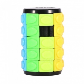 QiYi Magic Finger Cube, Cylindrical Puzzle Finger Anxiety Stress Focus Attention Fidget Toy Gift for Kids - Five Layers