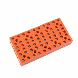 600V 36A 6-Position Double Row Screw Terminal Block - Orange (5 PCS)