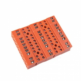 600V 36A 10-Position Double Row Screw Terminal Block - Orange (5 PCS)