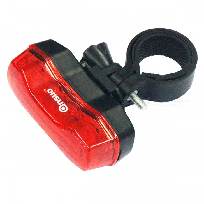 Mini 4-LED 7-Mode Red Light Bicycle TaillightBike Light<br>ColorRed + BlackQuantity1 setMaterialABS + LEDColor BINRedNumber of Emitters4Battery2  x CR2032 batteriesBattery included or notYesNumber of Modes7ApplicationBody,Seat Post,Handle Bar,SpokePacking List1 x Bicycle taillight1 x Clip1 x Replacement clip2 x CR2032 batteries (Built-in)<br>
