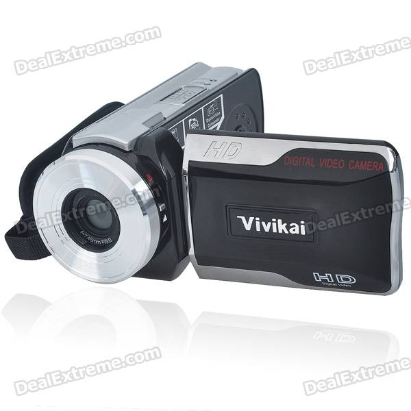 "5.0MP CMOS 720P HD Digital Video Camcorder w/ Telescope/IR Remote/AV/SD (3.0"" LCD)"
