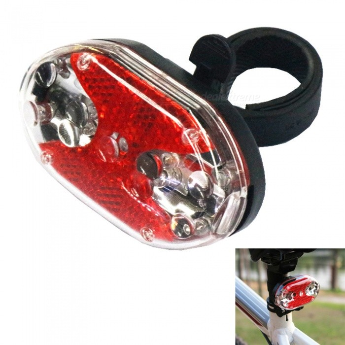 Mini 9-LED 4-Mode Red Light Bicycle TaillightBike Light<br>ColorRed + BlackQuantity1 DX.PCM.Model.AttributeModel.UnitMaterialabsEmitter BINLEDColor BINRedNumber of Emitters9Battery2 x AAA batteriesBattery included or notYesNumber of Modes4ApplicationBody,Seat Post,Handle Bar,SpokePacking List1 x Bicycle taillight1 x Clip 2 x AAA batteries<br>