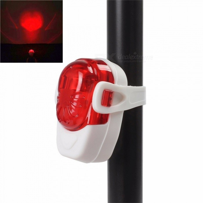 Mini 2-LED 2-Mode Red Light Bicycle Tail LampBike Light<br>ColorRed + WhiteQuantity1 DX.PCM.Model.AttributeModel.UnitMaterialABSColor BINRedNumber of Emitters2Battery2 x AAA batteriesBattery included or notYesNumber of Modes2ApplicationBody,Wheel,Seat Post,Handle Bar,SpokePacking List1 x Bike taillight1 x Strap2 x AAA batteries<br>