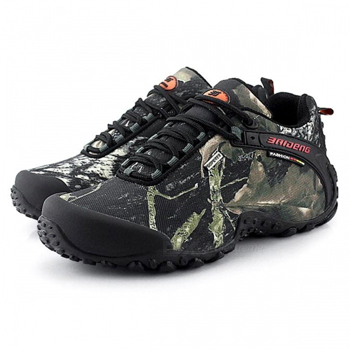CTSmart 8068 Multifunctional Outdoor Camouflage Mens Hiking Shoes - Gray (41)Hiking Shoes<br>ColorGreySize41Model8068Quantity1 setMaterialtarpaulinsGenderMenPacking List1 x Pairs of Shoes<br>