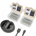 Kingma replacement battery (2-pack) and rapid dual charger for canon lp-e5 and canon eos rebel xsi, 1000d, 500d