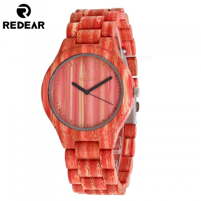 1473 Womens Wrist Watch Wooden Watch Case with Japan Movement Quartz Wristwatch - RedQuartz Watches<br>SizeRed (42mm)Model1473Quantity1 setShade Of ColorRedCasing MaterialwoodWristband MaterialwoodSuitable forAdultsGenderWomenStyleWrist WatchTypeFashion watchesDisplayAnalog + DigitalMovementQuartzDisplay Format12 hour formatWater ResistantFor daily wear. Suitable for everyday use. Wearable while water is being splashed but not under any pressure.Dial Diameter4.2 cmDial Thickness1.1 cmWristband Length23 cmBand Width2 cmBatterySony 626CertificationcePacking List1 x Watch1 x Box1 x Hole puncher1 x Specification<br>