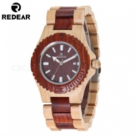 REDEAR Maple Wood Fashion Women's Quartz Wrist Watch - Brown