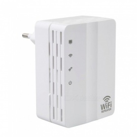 607U 300Mbps Plug-in Type Wireless Network Signal Repeater for Office Home (EU Plug)