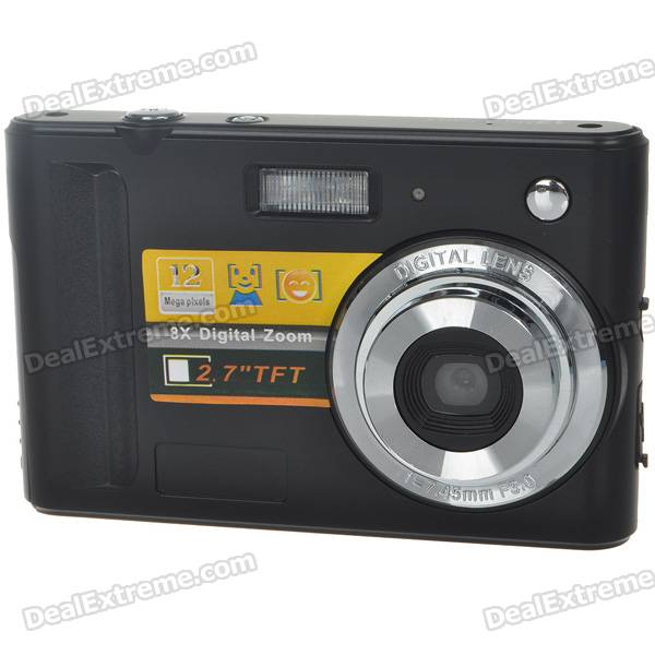 "2.7"" LTPS LCD 5.0MP CMOS Digital Video Camcorder w/ 8X Digital Zoom/SD Slot"