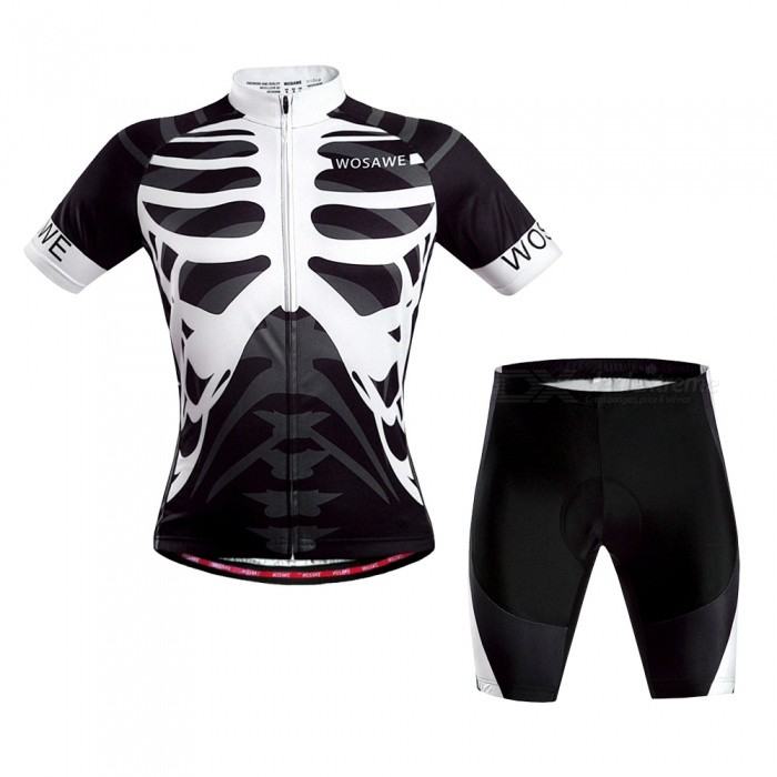 Summer Cycling Clothing Suits Cyclist Breathable Bicycle Clothes Set GEL Pad Mountain Bike Shorts Shirts Riding Clothes - LSizeLModelBC462Quantity1 setMaterialJersey: 100% POLYESTERGenderUnisexSeasonsOthers,summerShoulder Width14 cmChest Girth110 cmSleeve Length35 cmWaist35 cmTotal Length44 cmSuitable for Height170-175 cmBest UseCycling,Mountain Cycling,Road CyclingSuitable forAdultsTypeShort Jerseys,Others,setsPacking List1 x Set of cycling suits<br>