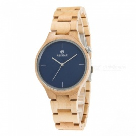REDEAR 1603 Unisex Wooden Wrist Watch with Size Adjustment Tool for Men and Women - Blue