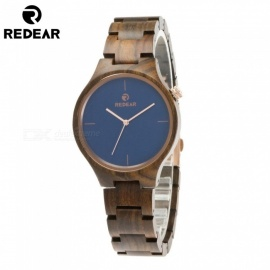 REDEAR 1603 Unisex Wooden Wrist Watch for Men and Women - Dark Blue