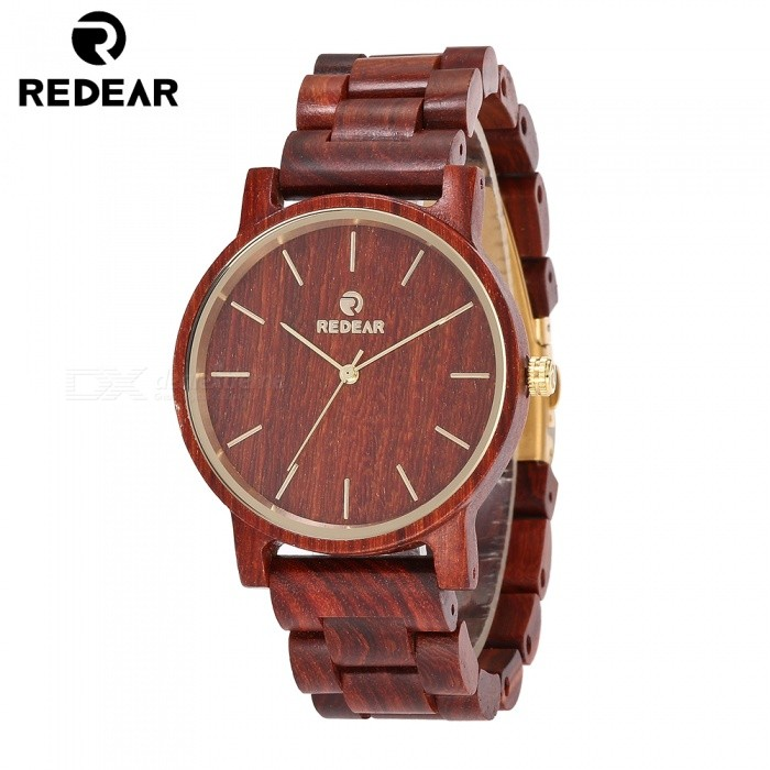 REDEAR 1624 Latest Unisex Wooden Quartz Watch with Wooden Band for Men, Women - Red SandalwoodQuartz Watches<br>ColorRed SandalwoodModel1624Quantity1 setShade Of ColorRedCasing MaterialWoodWristband MaterialWoodSuitable forAdultsGenderUnisexStyleWrist WatchTypeFashion watchesDisplayAnalog + DigitalMovementQuartzDisplay Format12 hour formatWater ResistantFor daily wear. Suitable for everyday use. Wearable while water is being splashed but not under any pressure.Dial Diameter4.3 cmDial Thickness1.1 cmWristband Length25 cmBand Width2 cmBatterySony 626Packing List1 x Watch1 x Box1 x Hole puncher1 x Specification<br>
