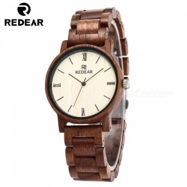 REDEAR 1624 Latest Unisex Wooden Quartz Watch with Wooden Band for Men, Women - Walnut