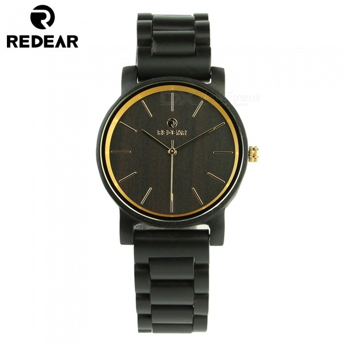 REDEAR 1624 Latest Wooden Quartz Watch with Wooden Band for Men - BlackQuartz Watches<br>ColorBlackModel1624Quantity1 setShade Of ColorBlackCasing MaterialWoodWristband MaterialWoodSuitable forAdultsGenderMenStyleWrist WatchTypeFashion watchesDisplayAnalog + DigitalMovementQuartzDisplay Format12 hour formatWater ResistantFor daily wear. Suitable for everyday use. Wearable while water is being splashed but not under any pressure.Dial Diameter4.3 cmDial Thickness1..1 cmWristband Length25 cmBand Width2 cmBatterySony 626Packing List1 x Watch1 x Box1 x Hole puncher1 x Specification<br>
