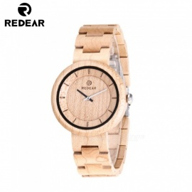 REDEAR 1628 Olive Wood Quartz Analog Wooden Wristwatch for Men, Women - Maple