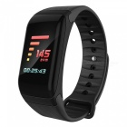 Colorful Screen Waterproof Bluetooth Smart Bracelet with Heart Rate Monitor, Blood Pressure Monitor - Black