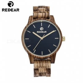 REDEAR 1664 Unisex Simple Quartz Analog Wooden Watch for Men, Women