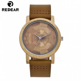 Redear 5002 Handcrafted Oak Wood Wrist Watch with Japan Movement