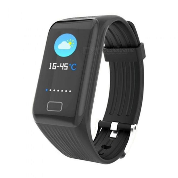 X1 Plus Smart Bluetooth Bracelet with Color High-Definition Large Screen, Blood Pressure / Heart Rate / Sleep Monitoring - BlackSmart Bracelets<br>ColorBlackModelX1 PLUSQuantity1 pieceMaterialTPUWater-proofIP67Bluetooth VersionBluetooth V4.0Touch Screen TypeOthers,OLEDOperating SystemAndroid 4.4,iOSCompatible OSAndroid IOSBattery Capacity90 mAhBattery TypeLi-ion batteryStandby Time10 daysPacking List1 x User usage manual1 x Charger1 x Smart Bracelet<br>