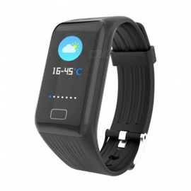 X1 Plus Smart Bluetooth Bracelet with Color High-Definition Large Screen, Blood Pressure / Heart Rate / Sleep Monitoring - Black