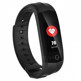 CD02 Sports Waterproof Color Screen Bluetooth Smart Bracelet Fitness Tracker Heart Rate Monitoring for IOS Android - Black