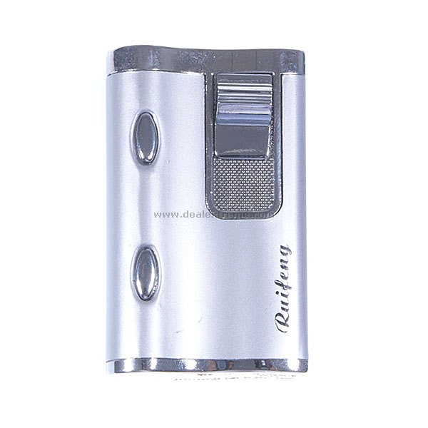 UV Money Detector Wind-proof Butane Lighter (Silver)